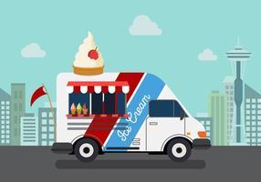 vettore camion di gelato