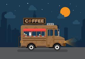 vettore camion di caffè