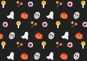 Gratis Vector Mönster Halloween
