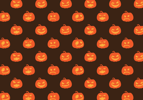 Gratis Vector Patroon Pompoen Halloween
