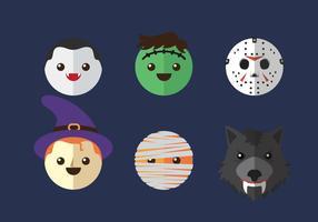 Vektor ikon huvud halloween