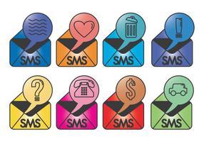Vetores de ícones sms sujos