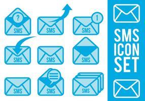 Vetores de ícones Sms