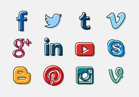 Vector social media logo icon