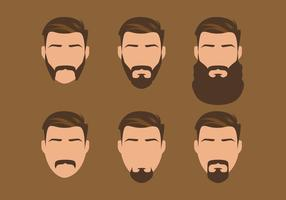 Vector estilo antiguo barba