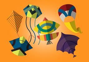Vector basant - le festival de cerf-volant indien