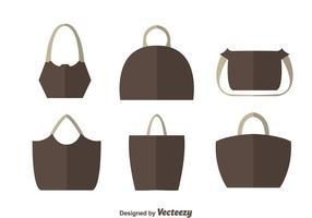 Vectores planos simples de la bolsa
