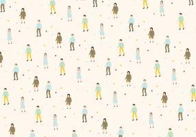 Mann und Frau Muster Vektor