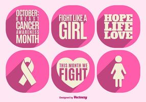 Breast cancer awareness elements vector