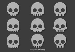 Iconos del vector del cráneo