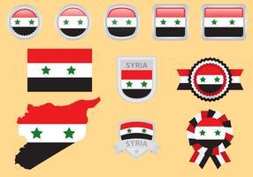 Syrien Flaggenvektoren