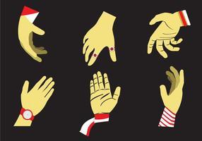Hand, die Vektorabbildung erreicht