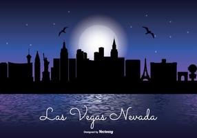 Las Vegas Night Skyline Illustratie