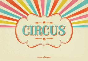 Colorful Sunburst Circus Illustration