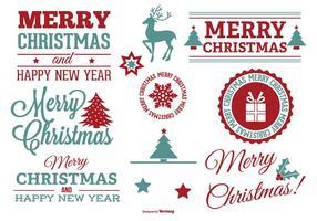 Conjunto de etiquetas de Natal bonito