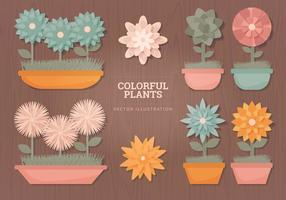 Fleurs Vector Illustrations