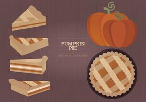 Pumpkin Pie Vector Illustration