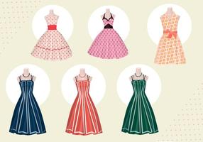 Women dress vectors from 50s