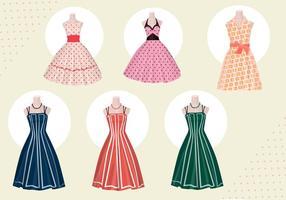 Vrouwen kleden vectoren uit de jaren 50