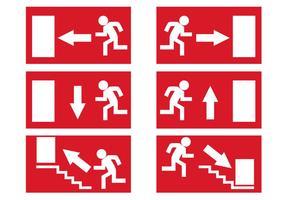 Signos de salida de emergencia gratis vector