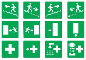 Free Emergency Exit Set Vector