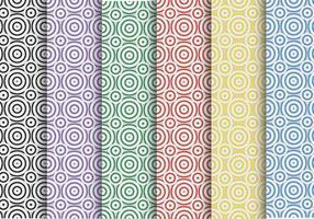 Motif vectoriel créatif du cercle