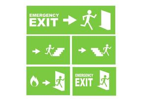 Emergency Exit Sign Free Vector