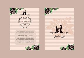 Vecteur d'invitation de mariage rose