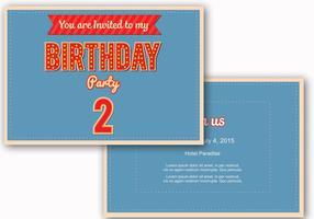 Compleanno invito vettoriale