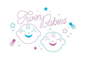 Twin Babies Vector gratuito