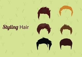 Vecteurs de cheveux vecteur