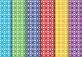 Padrões criativos de vetores geométricos