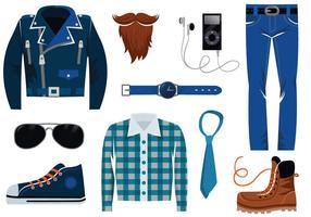 Vectores del hombre moderno del hipster