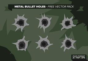 Metal Bullet Holes Pack Vector Libre