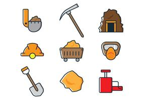 Mining Icons vector