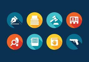 Conjunto de ícones do direito vetorial