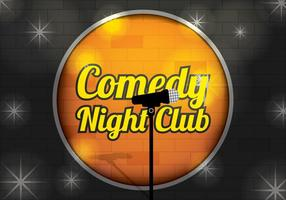 Comedy Club Background Vector
