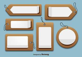 Cardboard price tags vector