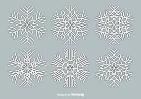 Papper vita snöflingor