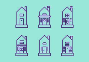 Free Townhomes Vector Iconos # 4