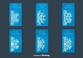 Christmas snowflakes card vectors