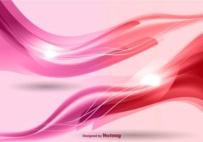 Pink waves background vector