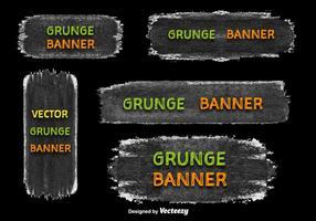 Vecteurs de bannière grunge