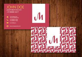 Swirl Business Card Template Vector