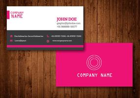 Pink Creative Business Card Vector Template