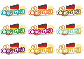 Badges vectoriels Oktoberfest