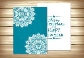 Schöne Weihnachtskarten-Schablone