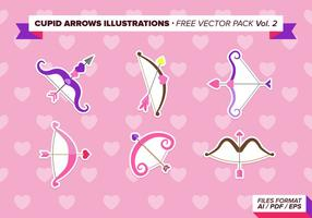 Cupid Arrows Illustrations Free Vector Pack  Vol. 2