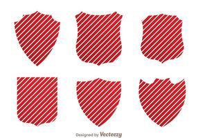 Escudo rojo raya vectores