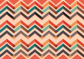 Vetor de padrão chevron colorido